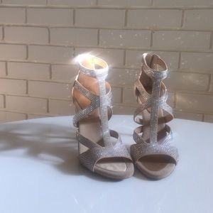 BCBGeneration Romeo crystal rhinestone heels 8.5