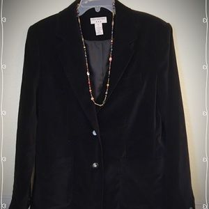 Black velour blazer