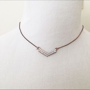 ModCloth Jewelry - Copper Rhinestone Geometric Cluster Necklace