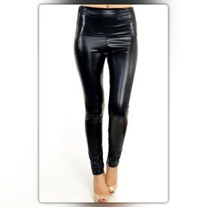 NEW Boutique Pants - Black High Waisted Liquid Leggings