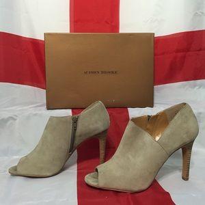 Audrey Brooke Shoes - Audrey Brooke Peep-Toe Booties (9.5)