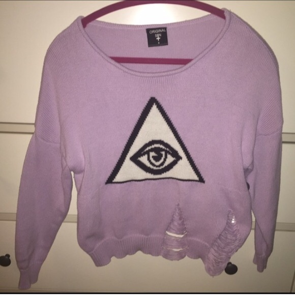 Original sin all seeing eye purple sweater