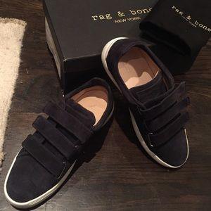 New navy suede Kent Velcro rag & bone sneakers 37
