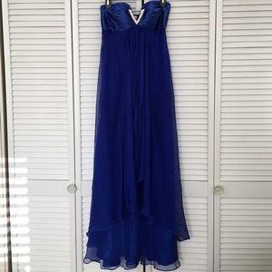 La Femme Dresses & Skirts - la femme royal blue strapless prom dress