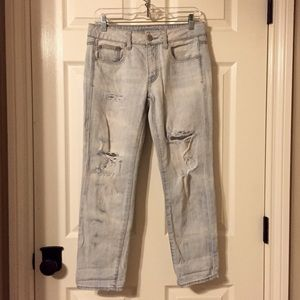 Distressed Lightwash Denim Jeans