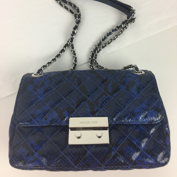 755341aed381 Michael Kors Bags | Sloan Shoulder Bag Electric Blue | Poshmark