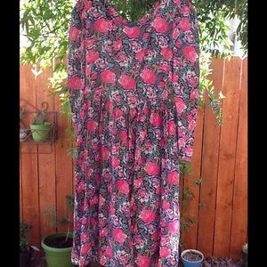Women's Vintage 80's Chic Indie Dress Size 10