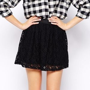 Nollie Dresses & Skirts - Black Lace Skater Skirt 😎