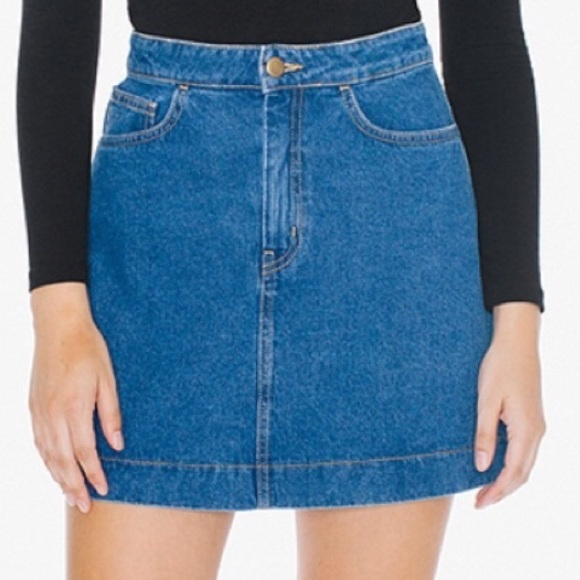 75% off American Apparel Dresses & Skirts - Easy denim A line ...
