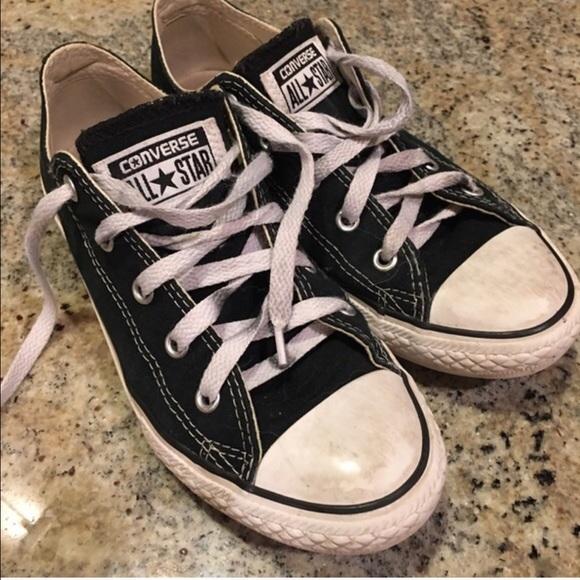 Converse Black Sneakers Size 5 Euro 35