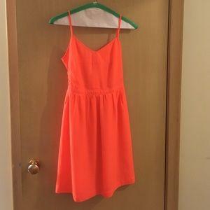 Neon orange JCrew dress