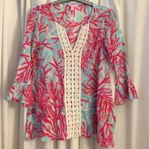 Lilly Pulitzer Tops - Lilly Pulitzer Coral Print Tunic