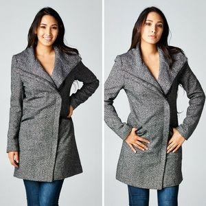 ‼️SALE‼️Long Sleeve Two Pocket Asymmetrical Coat