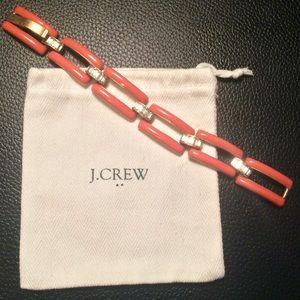 J. Crew Jewelry - J.Crew Enamel & Crystal Link Bracelet