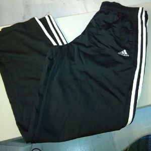 Adidas track pants men xl black white stripe