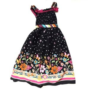 Youngland Other - Black Flower Dress