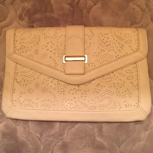 Aldo cream printed clutch
