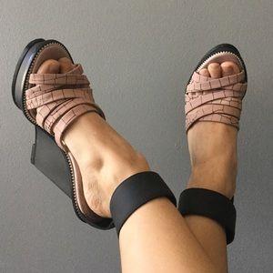 Alexander McQueen Shoes - Alexander McQueen ankle strap wedge sandal 37 US 7