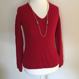 Ann Taylor:  Silky soft ruby red sweater!
