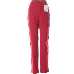 Escada Pants - 🆕 Escada Red Skinny Fit Soft Wool Pants NWT Sz 4