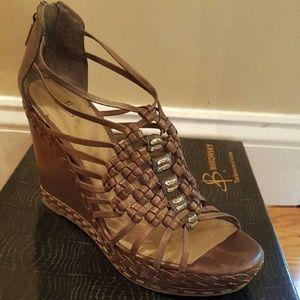 Wedge sandal,  size 7, 7.5