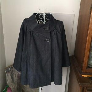 Hatch Jackets & Blazers - Hatch Maternity denim cape