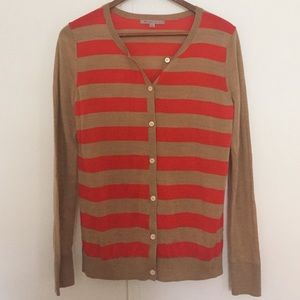 GAP Sweaters - Gap orange/camel striped cardigan. Size S.