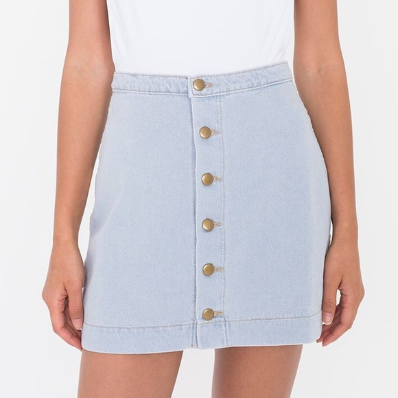 american apparel american apparel denim button front a