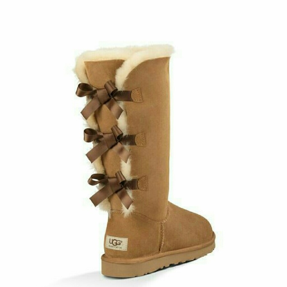 56 off ugg shoes flash sale ugg bailey bow tall boots. Black Bedroom Furniture Sets. Home Design Ideas