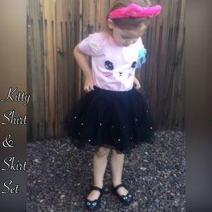 Other -  sale Kitty Shirt & Skirt Set