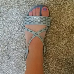 Deena & Ozzy Shoes - Gray Deena and Ozzy Sandals