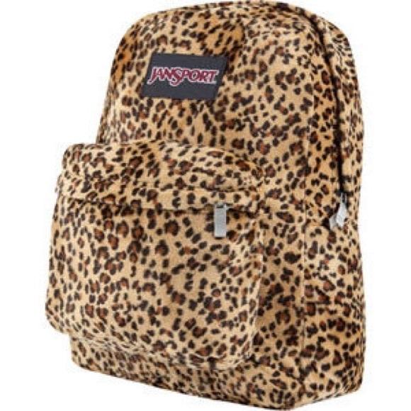cd765f7072ce Jansport Handbags - Cheetah print Jansport backpack