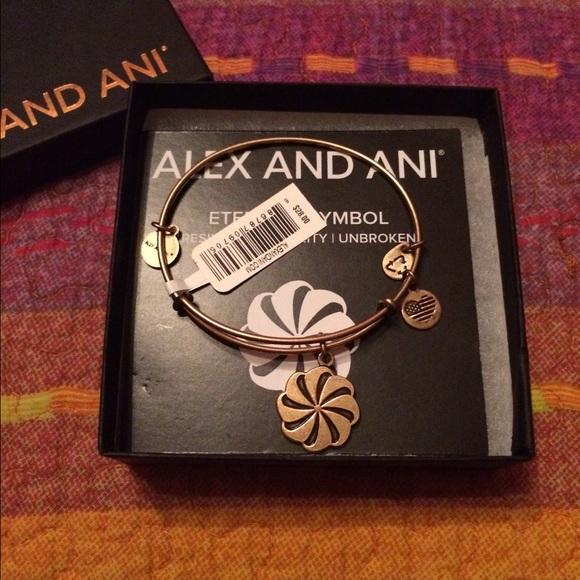 Alex And Ani Jewelry Silver Eternity Symbol Poshmark