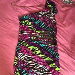 Colorful animal print dress