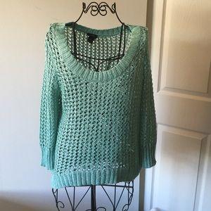 Cyan knitted sweater