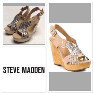 Steve Madden Shoes - 6M  STEVE MADDEN  Leather Turnpyke Wedges  NWOT