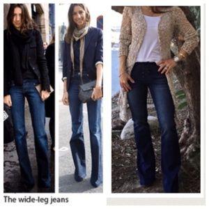 Denim - Bohemian chic wide leg jeans