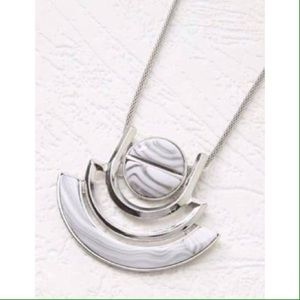 Forever 21 Jewelry - Forever 21 long silver and white necklace