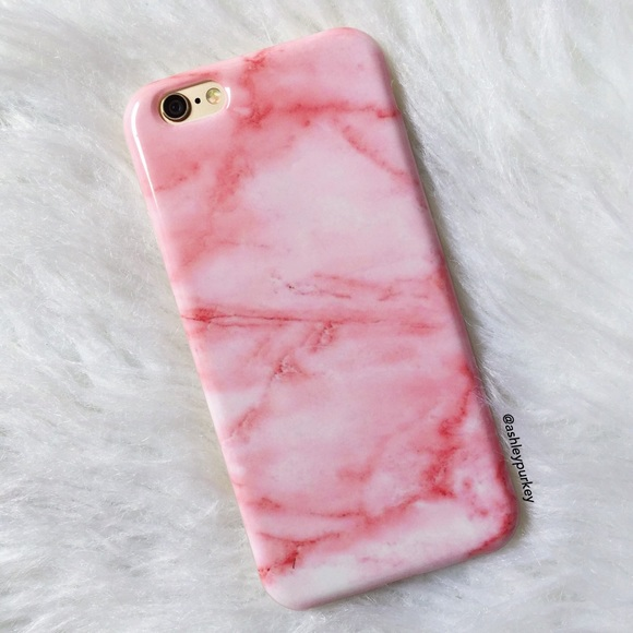 iphone 6 marble case pink