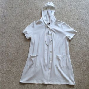 Other - White Hooded Swimsuit Cover