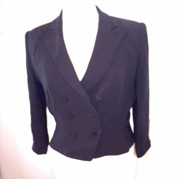 Armani Collezioni Jackets & Coats - Armani Collezioni black suit jacket