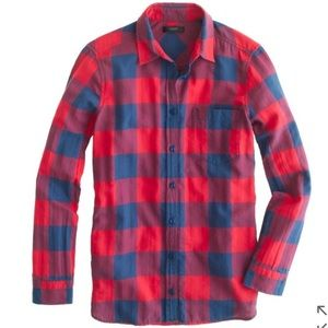 J. Crew Tops - J.Crew flannel shirt in buffalo check