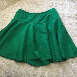  American Apparel green skirt