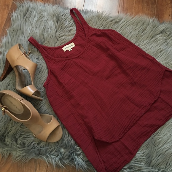 Anthropologie Tops - Cloth & Stone Red High-Lo Tank