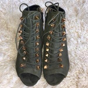 Giuseppe Zanotti lace up peep ankle booties