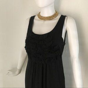 J. Crew Black Ruffle cotton dress