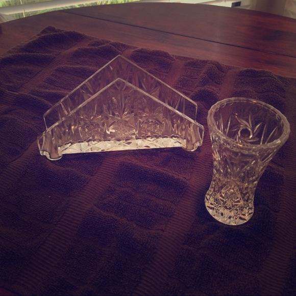 Other Waterford Napkin Holder Small Bud Vase Poshmark