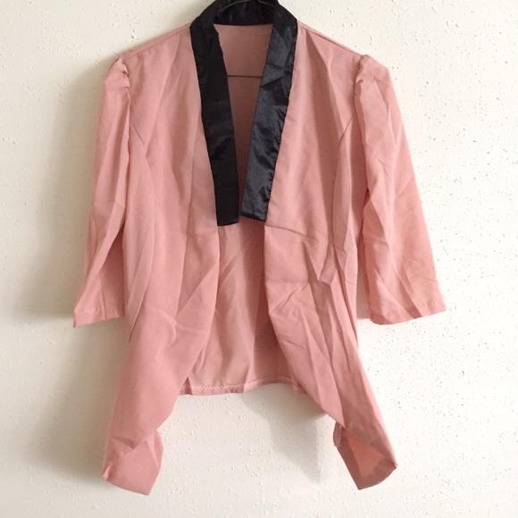 Zara - Pink Chiffon Cardigan Blazer from Cindy's closet on Poshmark
