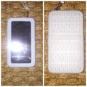 Merona Handbags - Merona Light Blue Laser Cut IPhone 6 Wallet