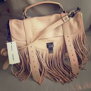 Proenza Schouler PS1 Medium Fringe Satchel - Nude